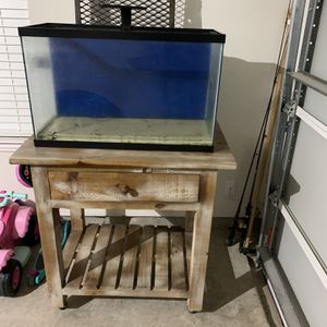 29 Gallon Fish Tank, Stand, LED Light for Sale in Haslet, TX