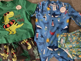 NEW 6 Month Baby Boy Swim Cloths And Diaper Bundle for Sale in Los Angeles,  CA