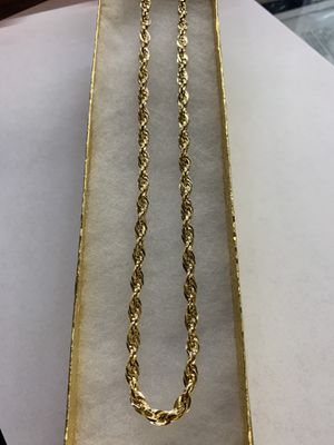 Gold rope chain for Sale in Phoenix, AZ