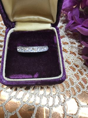 Sterling silver Brilliant Sapphires band Sz7 for Sale in Wood Dale, IL