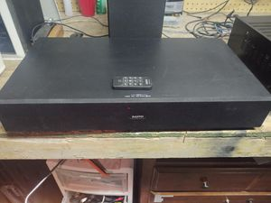 Sanyo sound base with remote for Sale in US