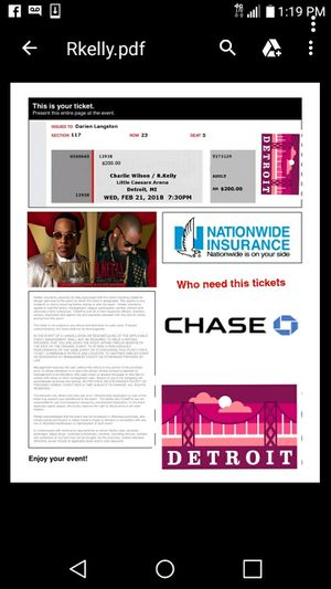 R.kelly & Charlie willson Tickets for Sale in Detroit, MI