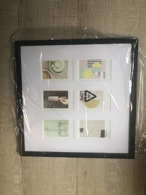 "Photo Frame for use with Instax - 6 Opening - 3.25"" x 2"" Black for Sale in Milford, MA"