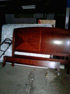 King bed set tall dresser long dresser bed frame two nightstands for Sale in Detroit, MI