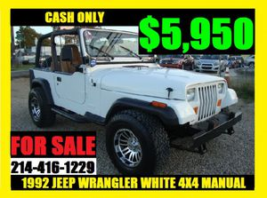 1992 JEEP WRANGLER! CASH DEAL for Sale in Dallas, TX