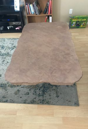 """Heavy Slate Table 32""""x56"""" x 18"""" high. Slab is 1 1/4"""" thick on Rod iron platform for Sale in Mesa, AZ"""