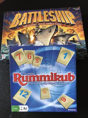 Battleship & Rummikub Games for Sale in Hillsboro, OR