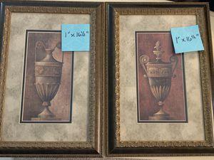 "Framed pictures. 1' x 1'4"" set of 2 for Sale in Farmington Hills, MI"