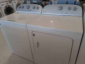 Whirlpool tap load washer new and used electric dryer set in good condition with 6 months warranty for Sale in Mount Rainier, MD
