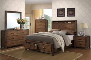 4-pcs queen bedroom set on sale @ Elegant Furniture 🛋🎈 for Sale in Fresno, CA