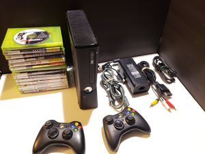 Xbox 360 Console 250GB HDD + Cords + Controllers + Games for Sale in Denver, PA