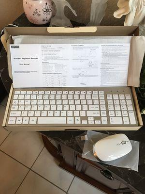 Murrieta (LOS ALAMOS & HANC0CK) BRAND NEW Wireless Keyboard and Mouse, USB Ergonomic, Ultra thin, Compact, Whisper Quiet, QWERTY for Mac Imac Windows for Sale in Murrieta, CA