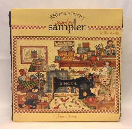Ceaco Country Sampler jigsaw puzzle Church Bazaar 550 piece Ellen Stouffer