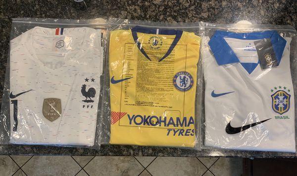 Chelsea (Hazard ) XXL Brazil Copa America (XXL) France Dembélé (XXL)