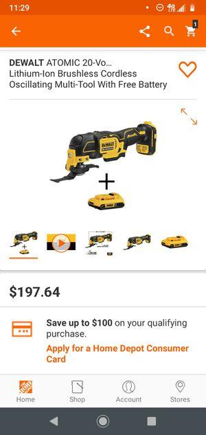 Multi-tool DeWalt 20v BRUSHLESS whit 1 battery for Sale in Aspen Hill, MD