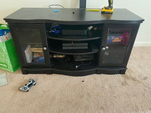TV stand with shelves and cabinets for Sale in Silver Spring, MD