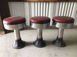 3 Antique soda fountain stools for Sale in US
