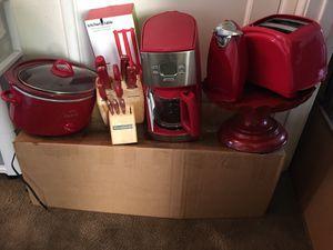 7 piece red appliances Hamilton Beach, Kitchen Aid,Rival $ 50 for Sale in San Leandro, CA