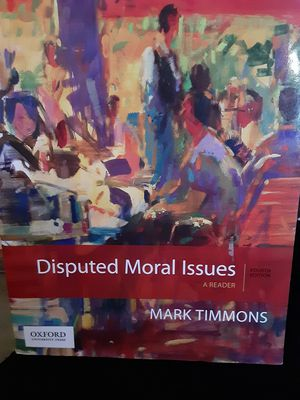 Disputed Moral Issues 4th edition for Sale in Denham Springs, LA