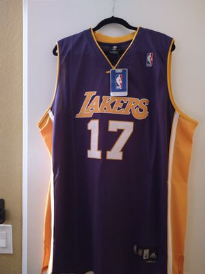 Los Angeles Lakers #17 Andrew Bynum Purple Adidas Swingman Jersey for Sale in Moreno Valley, CA