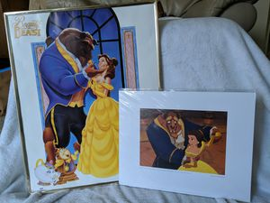 Beauty and the Beast- Vintage Poster+ Rare/ Retired Lithograph for Sale in Louisville, KY