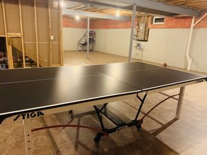 Indoor Stiga Table tennis table with stiga racket for Sale in Delaware, OH