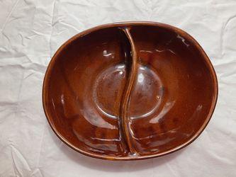 Vintage MarCrest Oval Divided Bowl/Vintage Glazed Ovenproof Stoneware for Sale in Washington,  DC