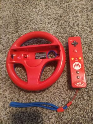 Wii U Mario Kart Edition Steering Wheel and Wii Mote for Sale in Dallas, TX