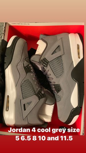 Jordan 4 cool grey size 5 6.5 8 10 and 11.5 for Sale in The Bronx, NY
