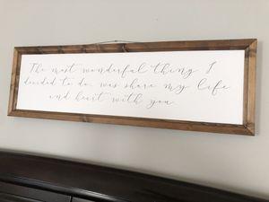 Wooden Sign for Sale in Ashburn, VA