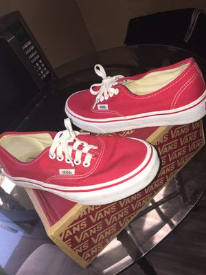 Red vans size 8 for Sale in Phoenix, AZ