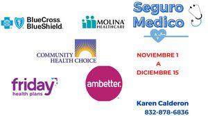 Seguro Medico / Health Insurance Nov 1-Dec 15 for Sale in Katy, TX