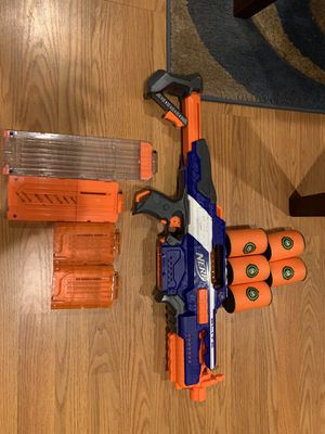 NERF N-Strike Elite Rapidstrike CS-18 included with 5 targets also 1 large mag+1 medium mag+2 small mags for Sale in Woodbridge, VA