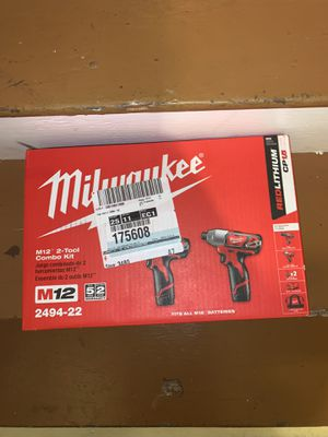 Milwaukee M12 2-tool combo kit for Sale in Attleboro, MA