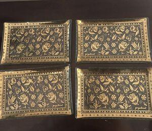 4 Vintage gold trays for Sale in Santa Clarita, CA