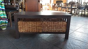 Coffee table with baskets for Sale in Bend, OR