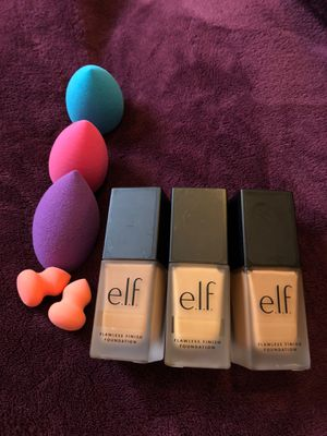 Beauty Blenders and Elf Flawless Finish Foundation for Sale in Silver Spring, MD
