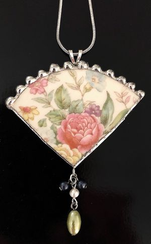 Broken Porcelain Jewelry with Sterling Silver Chain for Sale in Crofton, MD
