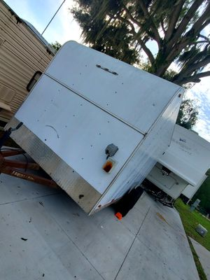 14 X 7 enclosed trailer clear title in hand E load tires 30 amp electric or generator set-up motorcycle for Sale in Bradenton, FL
