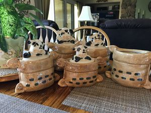 Cow canisters, hand painted for Sale in Yorba Linda, CA