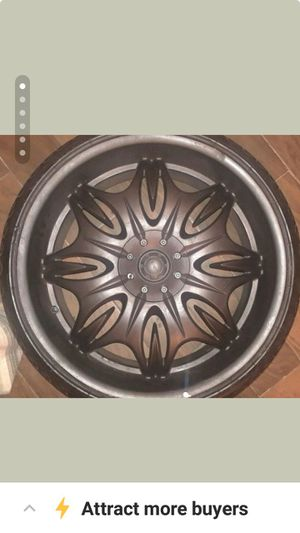 24inch chrome 5lug universal rims and tires for Sale in San Francisco, CA
