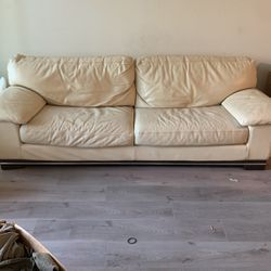 Leather Down filled Couch for Sale in Los Angeles,  CA