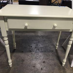 34in Rectangular Antique Ivory 1-Drawer Writing Desk for Sale in Houston, TX