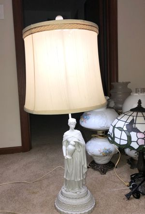 """35"""" Antique Ceramic Sculpture of Hebe; Olympian Cupbearer to Gods converted into a Lamp; Greek, Roman for Sale in Plainfield, IL"""