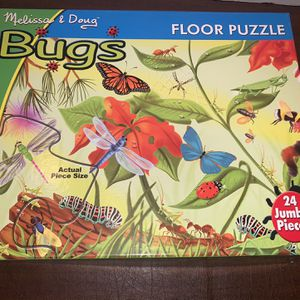 Melissa And Doug Bugs Extra Large Floor Puzzle 24 Pieces Kids Boys Girls Toy for Sale in San Diego, CA