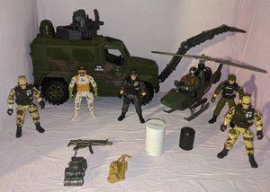 Vintage TRU Sentinel One Action Figures Lot Mine Sweep Tank Backpacks Gun Accessories for Sale in Beaverton, OR