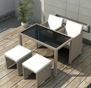 SHIPPING ONLY 5 Piece Patio Furniture Set Chairs Table And Ottoman for Sale in Las Vegas, NV