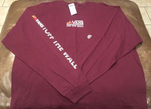 Vans Long Sleeve T-Shirt Size 2XL Men's New With Tags for Sale in Chula Vista, CA