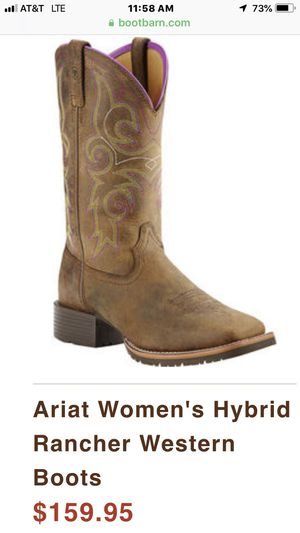 Ariat Women's Hybrid Rancher Western Boots size 9.5 for Sale in Merced, CA