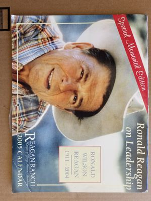 Ronald Reagan calendar 2005 for Sale in Santa Clara, CA